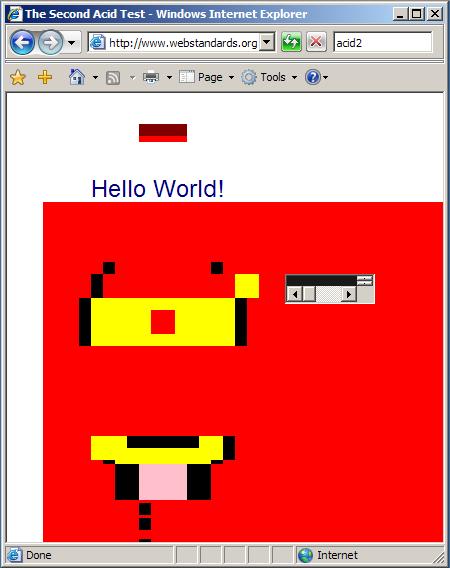 Test Acid2 - Internet Explorer 7