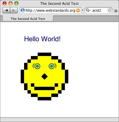 Test Acid2 - Safari 3