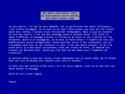 Blue Letter Of Death