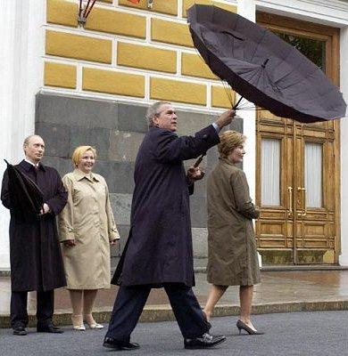 Bush et Poutine