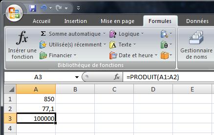 Le bug d'Excel 2007