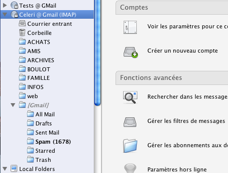GMail via IMAP
