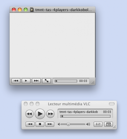 Interface Mac OS X de VLC