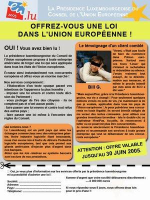 Une loi européenne à moi