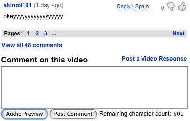 Les commentaires sur YouTube