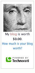 My blog is worth... 0$